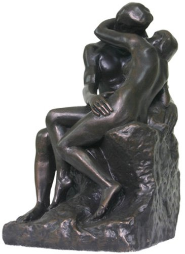 - The Kiss by Rodin Bronze - Large