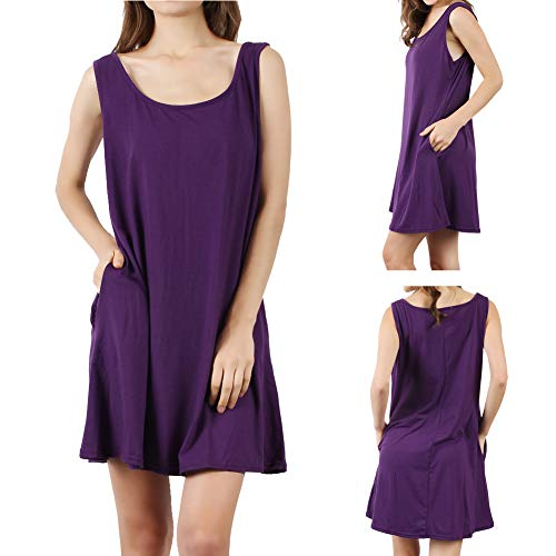 The Plus Project Ladies Sleeveless Swing Dress, Women