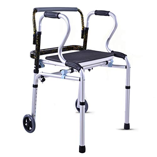 Cxmm Shower Chair, with Pulley Collapsible Adjustable Height Walker Bath Chair Leisure Chair Safety Portable