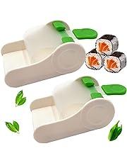 2Stks DIY Sushi Maker Roller Herbruikbare Sushivorm Sushimachine Keuken Sushiroller Perfecte Rolsushi Bladrol Maker Groente Vlees Rolling Tool Machine Vleesroller Plantaardige Vleesroller Sushi Maken
