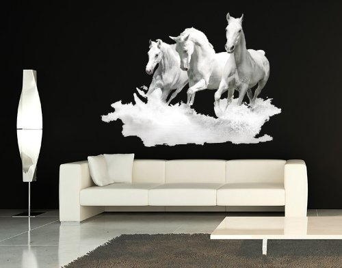 white-horses-wall-decal-by-style-apply-highest-quality-wall-print-decal-sticker-mural-vinyl-art-home