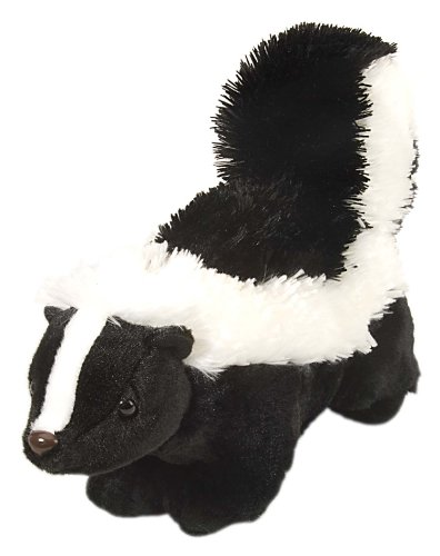 Wild Republic Skunk Plush, Stuffed Animal, Plush Toy, Gifts for Kids, Cuddlekins 12 (Stuffed Skunk)