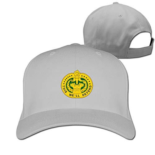 Lkbihl U S Army Drill Sergeant Logo Unisex Adult Adjustable Peaked Sandwich Hats Trucker Cap Baseball Cap Gray