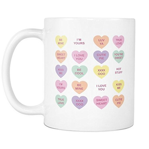 Candy Hearts Valentine's Day Mug - Sweet hearts boyfriend girlfriend mug
