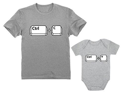22c12a1c8d441c Dad   Baby Girl Boy Copy Paste Matching Set Men s T-Shirt   Baby