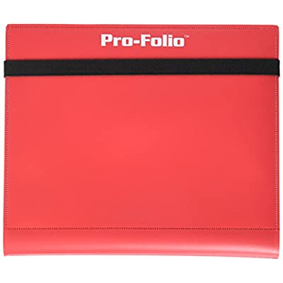 BCW Pro-Folio 4-Pocket Album Red Card Game: Toys & Games