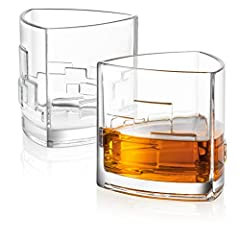 This JoyJolt Revere scotch glass set of 2 is a fashioned bourbon glass that showcases your scotch, whiskey, and bourbon on a higher level. This best whiskey glass can handle heat in the dishwasher or microwave. Ideal for home, bar, hotel, res...