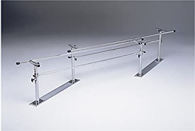 """Fabrication Enterprises 15-4005 Folding Parallel Bars with 10' Length Steel Base, 42"""" Length x 5"""" Width x 0.25"""" Height"""