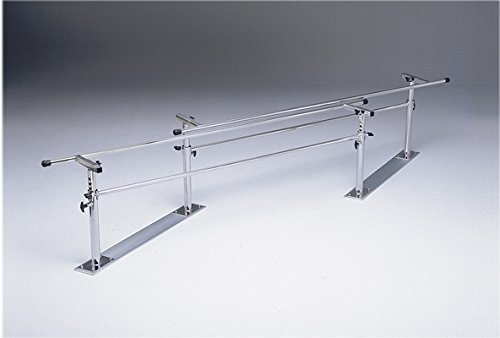 Parallel Bars, Folding, Height And Width Adjustable - Steel Base, 7' L X 16