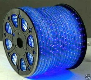 164 Feet Blue 2 Wire Led Rope Light Decorative Home Lighting