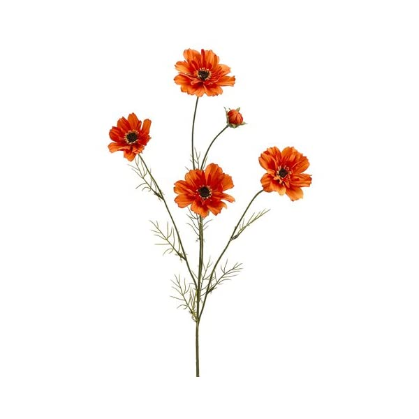 32″ Silk Cosmos Flower Spray -Orange (Pack of 12)