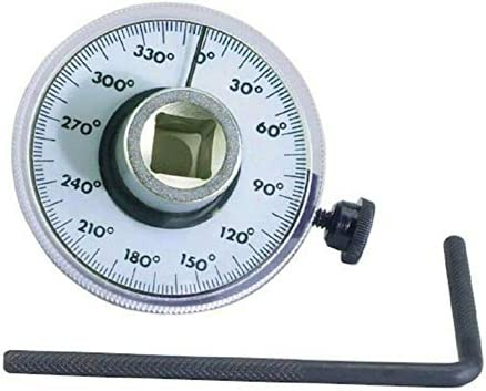 360°1/2ドライブトルク角度ゲージメーター自動角度回転測定ツール自動修復ツール (Color : Silver)