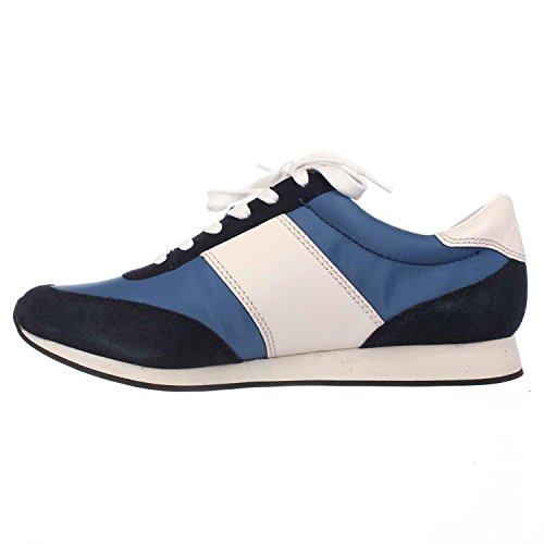 Coach Womens Raylen Leather Low Top Lace Up Fashion Sneakers, Blue, Size 5.0 by Coach (Image #5)