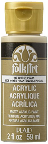 FolkArt Acrylic Paint in Assorted Colors (2 oz), 939, Butter - Pecan Medium