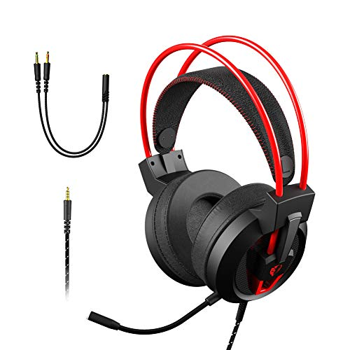 Gaming Headset Chamvict Xbox One Headset with Stereo Sound PS4 Headset with Noise Cancelling Gaming Headphones with Microphone 6.6FT Cable Compatible PS4, PC, Laptop, Cell Phone, Xbox, 3.5MM Headset P