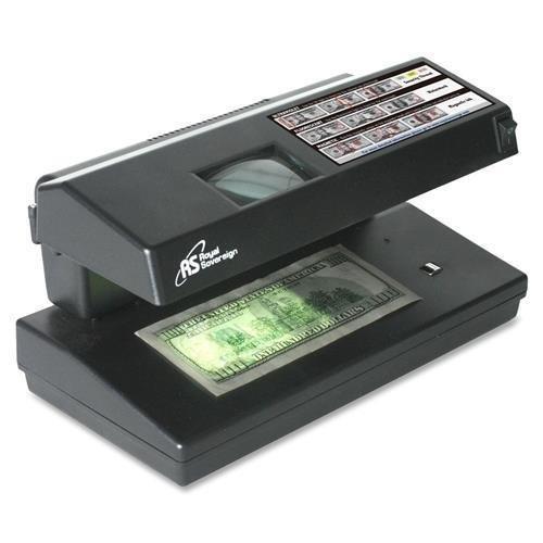 Royal Sovereign Counterfeit Detector, 4-Way, Portable, 11''x6''x6'', Black (RCD-2000)