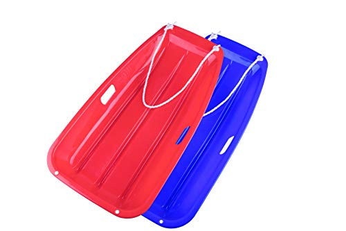OUTDOOR NATION Downhill Sprinter Toboggan Snow Sled Durable with 2 Handles Pull Rope