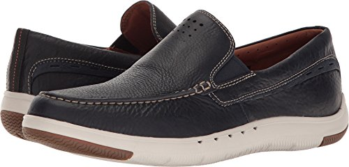 CLARKS Men's Un.Maslow Easy Navy Tumbled Leather (Navy Tumbled Leather)
