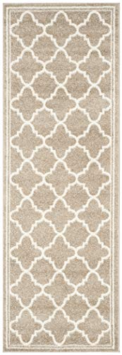 Safavieh Amherst Collection AMT422S Wheat and Beige Indoor/ Outdoor Runner (2'3