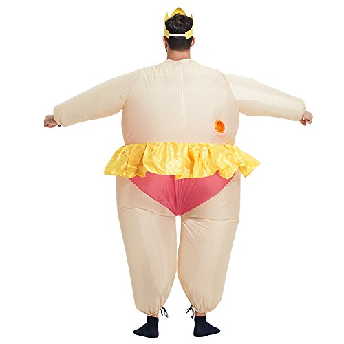 TOLOCO Inflatable Costume   Inflatable Costumes For Adults Or Child   Halloween Costume   Blow Up Costume (Ballet-Adult) by TOLOCO (Image #4)