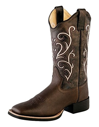 Tumble Old Square Chocolate Brown Brown Cowboy West Womens Stitching Boots 18118 Tumble r6Trw0q