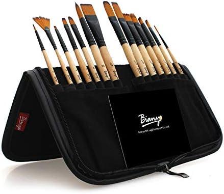 yishaner 14pcs Pinceles de Pintura Juego de Pinceles de Acuarela acrílica con Estuche para lápices para Artistas Escolares Pintura Dibujo: Amazon.es: Hogar