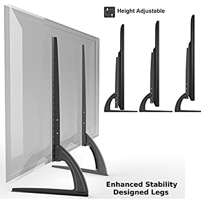 """HTA307 Universal Replacement Table Top TV Stand Legs for LED/LCD 27""""-46"""" Height Adjustable"""
