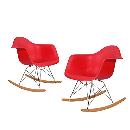 Charles & Ray Eames Modern Rocking Armchair Rocker, Reception Seat, Set of - Rays Roma