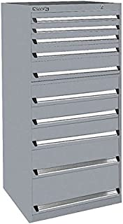 """product image for Kennedy Manufacturing 63620UGY Modular Drawer Cabinet, 30"""" Length, 30"""" Width, 60"""" Height, 10 NX Utility Drawers, Gray"""