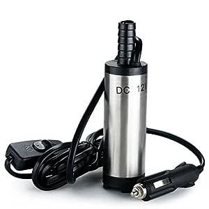 flintronic Bomba de Agua y Aceite, 12V Bompa Sumergible de Acero ...