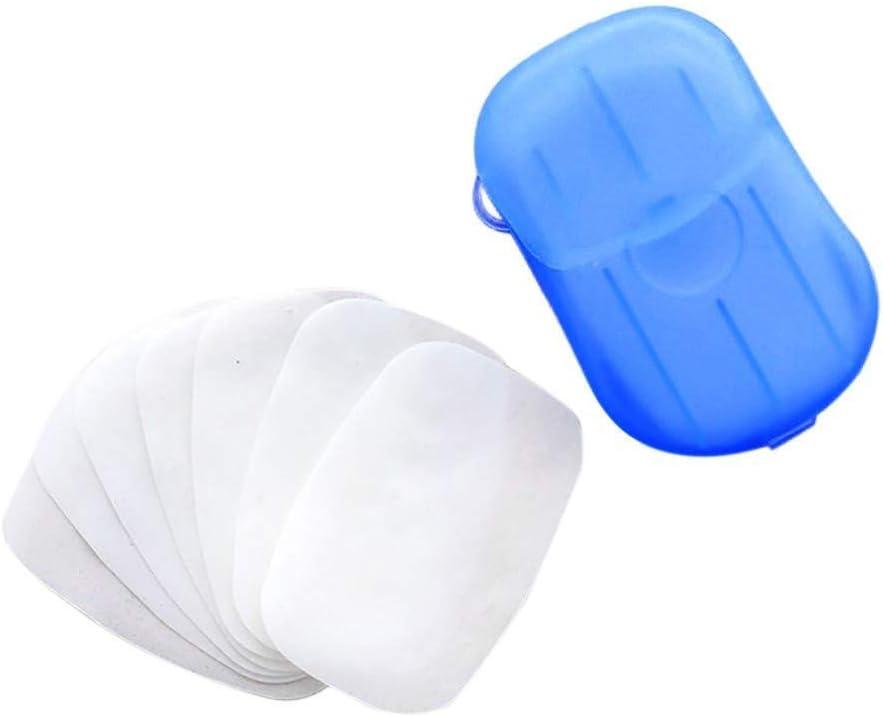 duquanxinquan 100 St/ücke Seifenbl/ätter Papier Seife Einweg-Handwaschpapier Tragbare Mini Reisen Papier-Seife mit Kunststoffbox f/ür K/üche Outdoor Travel Camping Wandern