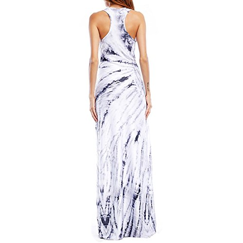 Length Homecoming Photo Printed s Fit Long Moichien Floor Dress Color Slim Dress V Ai Sleeveless Women Maxback Neck Sexy Z6nxBTqx8