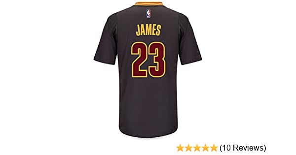 sale retailer 7ccac 23a41 adidas Lebron James Cleveland Cavaliers Swingman Black Short Sleeve Jersey