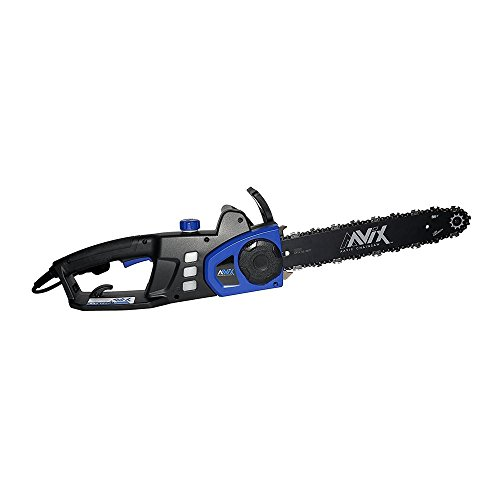 AAVIX AGT316 9Amp Electric Chainsaw with SDS Tool-Less Tension System, 14'', Blue by AAVIX