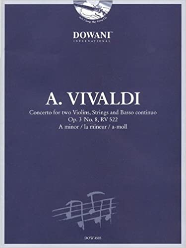 Book CONCERTO IN A MINOR FOR 2 VIOLINS STRINGS BASSO CONTINUO OP3 NO8 RV522 BK/CD (2006-04-01)