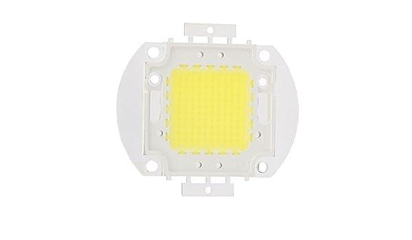 eDealMax DC Beads 30-35V 100W de alta potencia LED SMD chip pura luz blanca de la lámpara del reflector - - Amazon.com