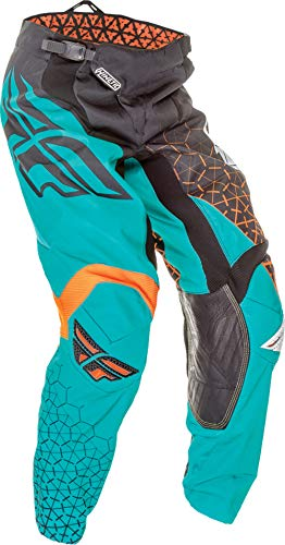 Kinetic Youth Pants - Fly Racing Kinetic Trifecta Youth Pants Black/Teal/Orange (Green, 20)