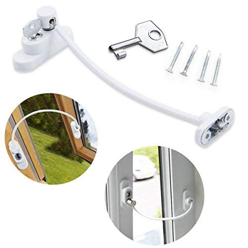 ME Superb Deals Childproof Window Door Restrictor Baby Child Safety Catch Security Wire Cable Lock by ME by ME Superb Deals