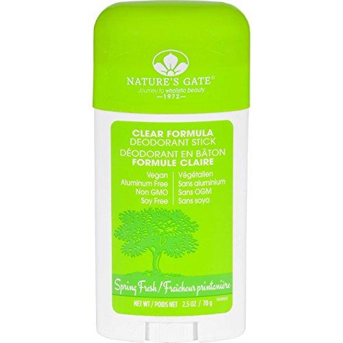 Natures Gate Deodorant - Stick - Clear Formula - Spring Fresh - 2.5 oz Natures Gate Deodorant