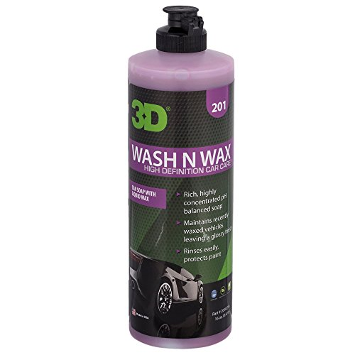 3D Wash N Wax - 16 oz. | Concentrated All-in-One Car Wash & Wax Automotive Shampoo & Conditioner | Paint Cleaner & Protection | Made in USA | All Natural | No Harmful Chemicals