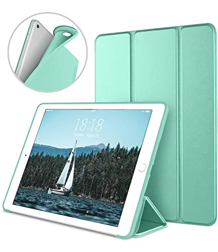 iPad Case for iPad Mini 4, DTTO [Anti-Scratch] Ultra Slim Lightweight [Auto Sleep/Wake] Smart Case Trifold Cover Stand with Flexible Soft TPU Back Cover for iPad mini4, Mint Green