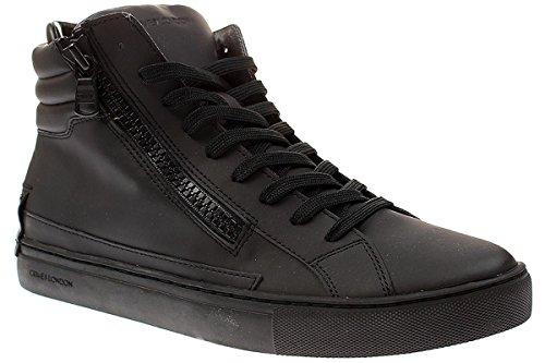 Uomo Black Laterali Con 2 Zip Opaco Stringata Leather 40 Crime Stivaletto London dXR4dw