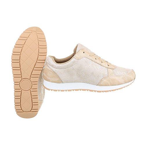 Ital Sneakers Design low donna beige da piatto S35 FC Scarpe Sneaker wIxq4Yfpw