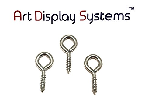 ADS 216 Long Shank ZP Screw Eye - 200 Pack by ART DISPLAY SYSTEMS by ART DISPLAY SYSTEMS