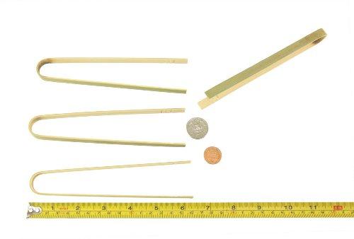 BambooMN Brand - 6.3'' Mini Bamboo Disposable Tongs - Toast Tongs - 1,000pcs by BambooMN