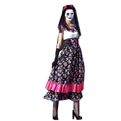 Halloween Ghost Bride Zombie Vampire COS Cosplay Makeup Party Scary Clothing