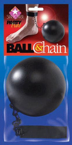 Loftus International Star Power Pirate Prisoner Ball and Chain Costume Accessory, Black, 10