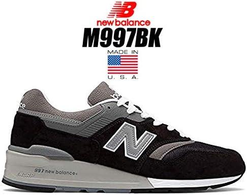 M997 ブラック BLACK M997BK MADE IN U.S.A. スニーカー メンズ NB 997 USA [並行輸入品]