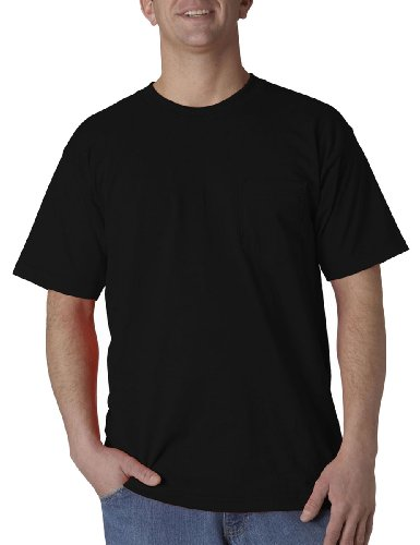 Union Made Adult Style Preshrunk Bottom Pocket T-Shirt, Black, S Pack of 12 by Union Made