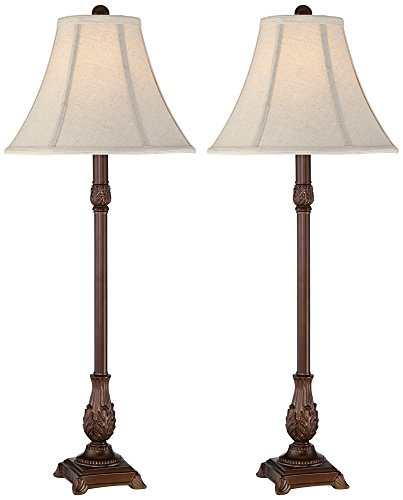 Lamp Acanthus (Giselle Traditional Buffet Table Lamp Set of 2)